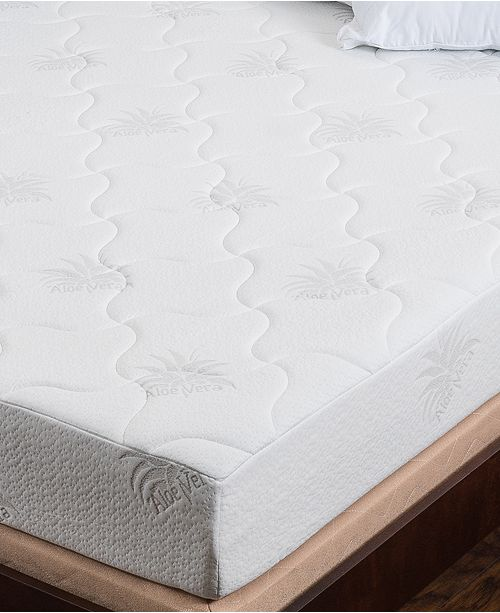"Om Aloe 8"" Medium Firm Mattress - Twin, Quick Ship, Mattress in a Box"