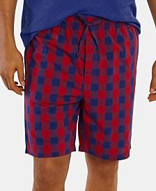 Nautica Men's Cotton Woven Plaid Pajama Shorts