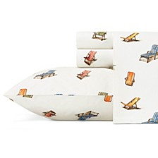 Tommy Bahama Beach Chairs California King Sheet Set
