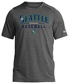 New Era Seattle Mariners Poly Performance T-Shirt, Big Boys (8-20)