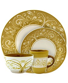 Parisian Swirl 16 Piece Dinnerware Set
