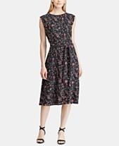 f47d72a235 Lauren Ralph Lauren Fit   Flare Floral-Print Dress