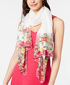 I.N.C. Embroidered Edge Wrap, Created for Macy's
