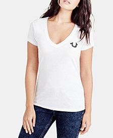 True Religion V-Neck Classic Logo T-Shirt
