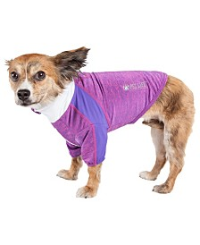Pet Life Active 'Chewitt Wagassy' Performance Long Sleeve Dog T-Shirt
