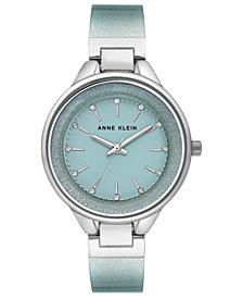 Anne Klein Women's Mint Shimmer Half-Bangle Bracelet Watch 36mm