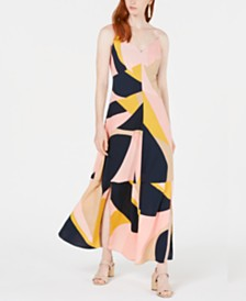 Bar III Colorblocked Double-Slit Maxi Dress, Created for Macy's