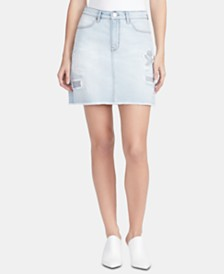 WILLIAM RAST A-Line Denim Skirt