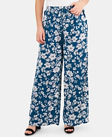 NY Collection Printed Palazzo Pants