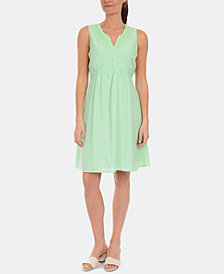 NY Collection Petite Crochet-Trim Dress