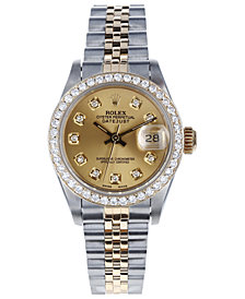 Pre-Owned Rolex Jubilee with  Champagne Diamond Dial and Diamond Bezel, 26mm
