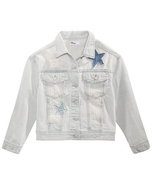 Epic Threads Big Girls Star Cotton Denim Jacket, Created for Macy's