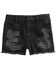 Epic Threads Big Girls Ripped Cotton Denim Shorts, Created for Macy's