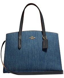 COACH Denim Colorblock Charlie Carryall