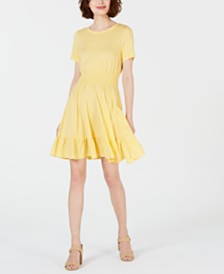 Maison Jules Fit and Flare Mini Dress, Created for Macy's