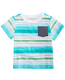First Impressions Baby Boys Watercolor Striped T-Shirt, Created for Macy's