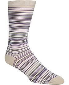 Men's Multi Stripe Crew Socks