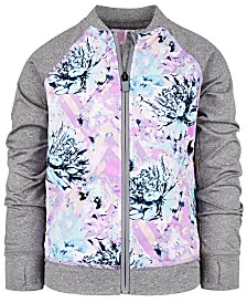 Ideology Toddler Girls Floral-Print Zip-Up Jacket, Created for Macy's