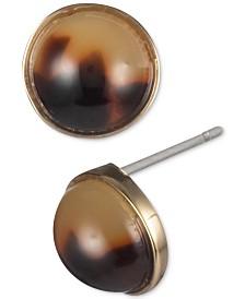 Lauren Ralph Lauren Gold-Tone Stone Stud Earrings