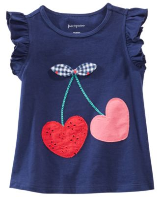 Baby Girls Cherry Graphic Top, Created for Macy's