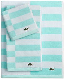 "Lacoste Offset Cotton Stripes 30"" x 54"" Bath Towel"
