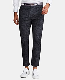 Tallia Men's Straight-Fit Stretch Paisley Pants