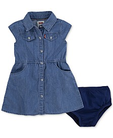 Levi's® Baby Girls Denim Shirtdress