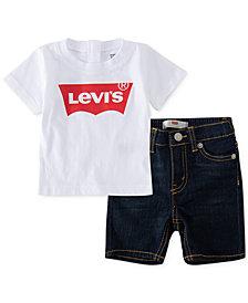 Levi's® Baby Boys 2-Pc. T-Shirt & Denim Shorts Set, Created for Macy's