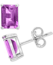 EFFY® Amethyst Stud Earrings (1-9/10 ct. t.w.) in 14k White Gold