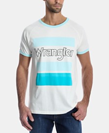 Wrangler Men's Logo Graphic Ringer T-Shirt