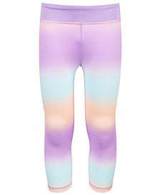 Big Girls Plus Ombré-Striped Capri Leggings, Created for Macy's