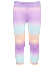 Ideology Big Girls Plus Ombré-Striped Capri Leggings, Created for Macy's