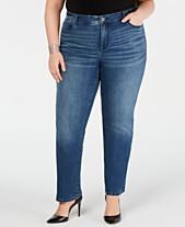 fc55c15555d I.N.C. Plus   Petite Plus Size Tummy Control Straight-Leg Jeans