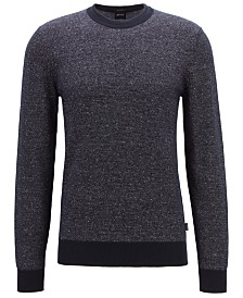 BOSS Men's Franio Knitted Two-Tone Sweater