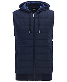 BOSS Men's Full-Zip Hooded Gilet