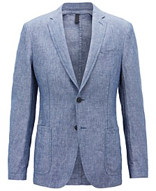 BOSS Men's Slim Fit Linen Jacket