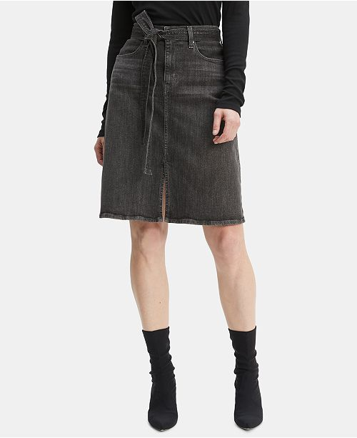 Levi's Self-Tie Denim Skirt
