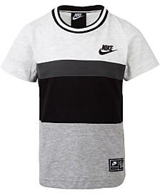 Nike Toddler Boys Colorblocked Logo-Print Cotton T-Shirt