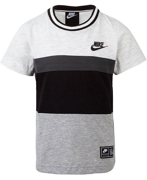 f3339eb75de8 Nike Little Boys Colorblocked Logo-Print Cotton T-Shirt   Reviews ...