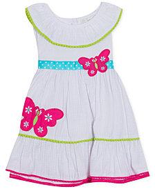 Rare Editions Baby Girls Butterfly Seersucker Dress
