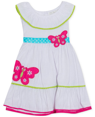 Rare Editions Baby Girls Butterfly Seersucker Dress