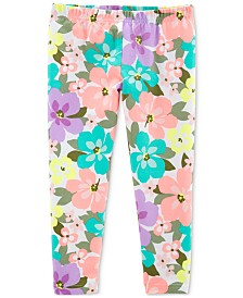 Carter's Little Girls Floral-Print Leggings