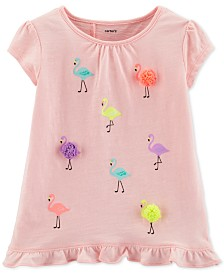 Carter's Toddler Girls Flamingo Ruffle Top
