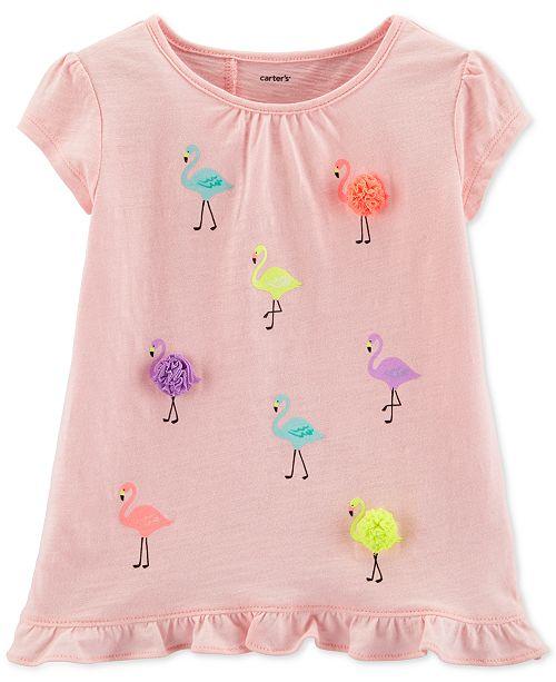 Carter's Toddler Girls Flamingo Ruffle Top