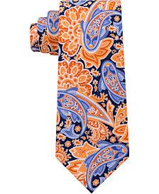 Tommy Hilfiger Men's Fish Paisley Print Silk Tie