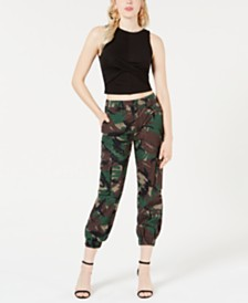 GUESS Jessa Twist-Front Cropped Top