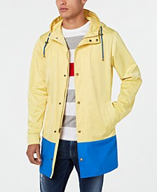 Men's Classic-Fit Colorblocked Raincoat