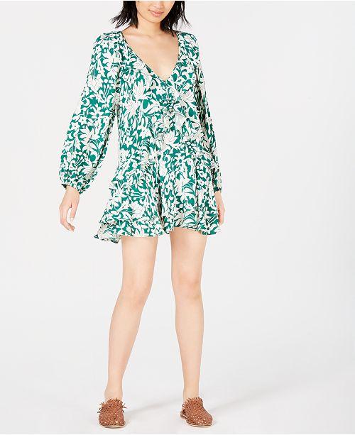 Free People Rebecca Floral-Print Ruffled Dress