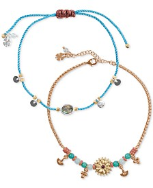 Lucky Brand 2-Pc. Set Charm Anklet, Created for Macy's