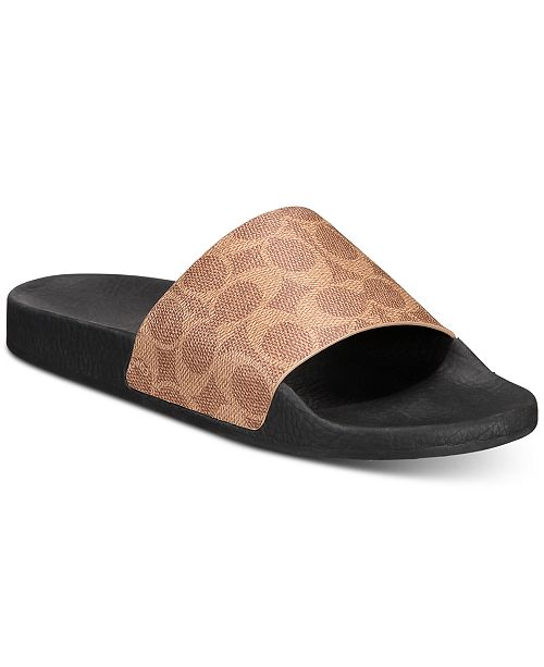 COACH Women's Udele Sport Pool Slides, Created for Macy's